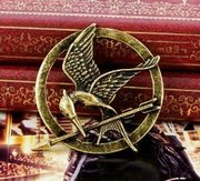 The Hunger Games Movie Mocking Jay Badge/Brooch,  Bronze