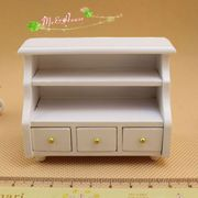 1:12 Dollhouse Miniature TV DVD Player Stand Home furniture Wood Cabin